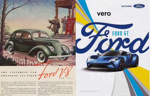 Print and packaging design 1930s and now wallace for Ford motor company history background