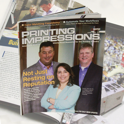Printing Impressions Magazine - Featuring Wallace Carlson Printing