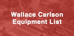 Wallace Carlson Equipment List