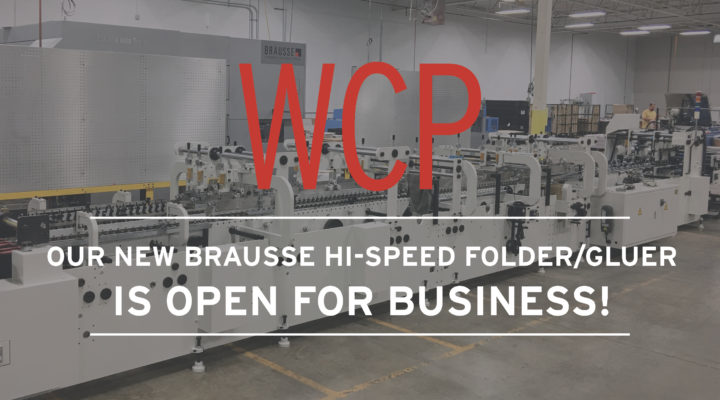 Open for business! Our Brausse hi-speed folder/glue