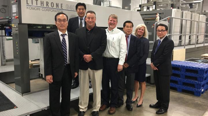 Honored guests today at Wallace Carlson Printing